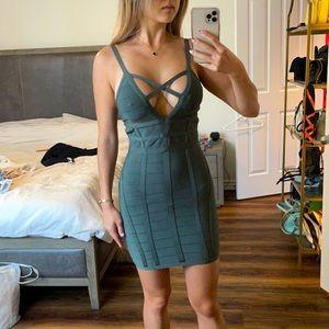 Bebe olive bandage dress